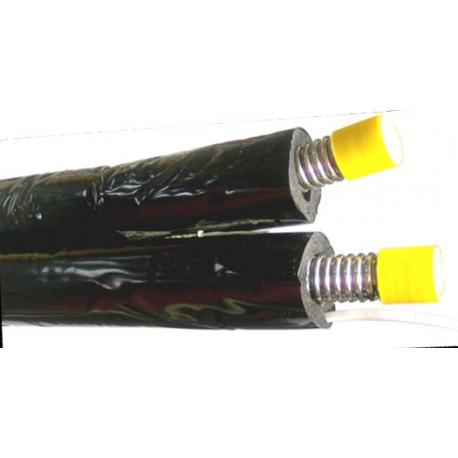 Solarleitung 2in2, Edelstahlwellrohr 1.4404